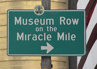 Miracle Mile, Los Angeles - Museum Row Signage located at   Fairfax Avenue and Wilshire Boulevard