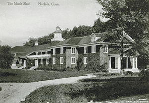 The Oceanides - Postcard of the Music Shed (c. 1920s), the venue at which Sibelius premiered The Oceanides in 1914