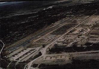 Kontum Airfield - An aerial view of Kontum Airfield in December 1967