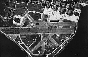 Naval Station Puget Sound - Aerial photograph of NAS Seattle in the 1940s.
