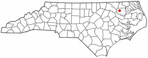 Lewiston Woodville, North Carolina - Image: NC Map doton Lewiston Woodville