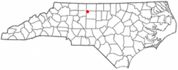 Location of Stokesdale, North Carolina