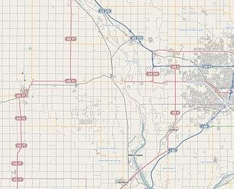 Centuriation - Example of road system in a PLSS area; Nebraska – US grid system
