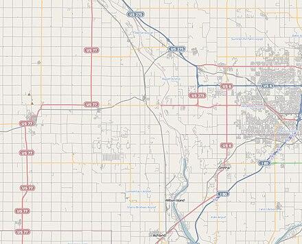 example of road system in a plss area nebraska