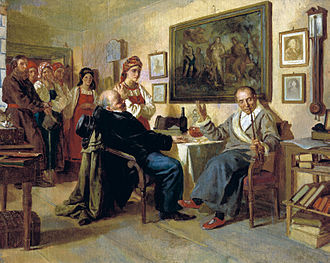 "Serfdom in Russia - ""The Bargain"" by Nikolai Nevrev (Sale of a serf girl)"