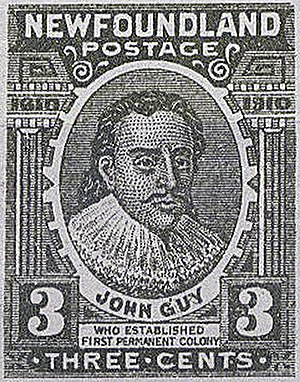 John Guy (governor) - Image: NFLD stamp John Guy