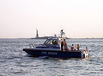 Organization of the New York City Police Department - An NYPD boat patrols New York Harbor