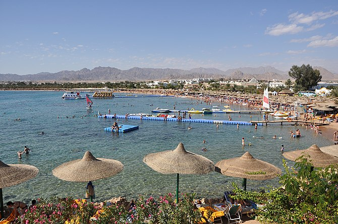 English: Sharm el-Sheikh (Egypt): panorama of ...