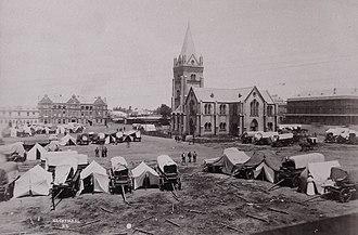 Church Square, Pretoria - Image: Nagmaal op Kerkplein