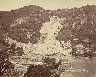 Nainital Lake - Landslide in 1880