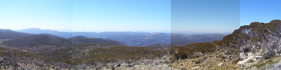 Panoramic view from the top of Mount Ginini, Namadgi National Park.
