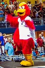 The Nashville Sounds mascot, Booster