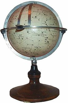 """A French """"navisphere"""": a type of celestial globe formerly used for navigation at sea"""