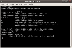 ndiswrapper command line