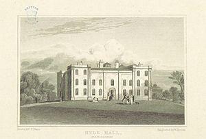 Sawbridgeworth - Print of Hyde Hall (1818) by J. P. Neale