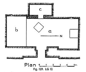 Nebemakhet - Floor plan of Nebemakhet's first tomb, L12.