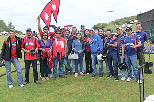 Nepal national cricket team - Nepal fans in Bermuda during the 2013 ICC World Cricket League Division Three