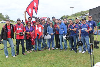 2013 ICC World Cricket League Division Three - Nepali cricket Fans in Bermuda during 2013 ICC World Cricket League Division Three.