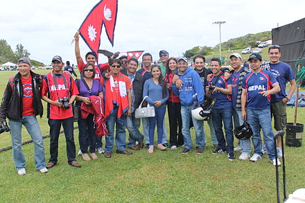 Nepali cricket fans are renowned for an exceptionally enthusiastic support of their national team. Nepali Fans.JPG