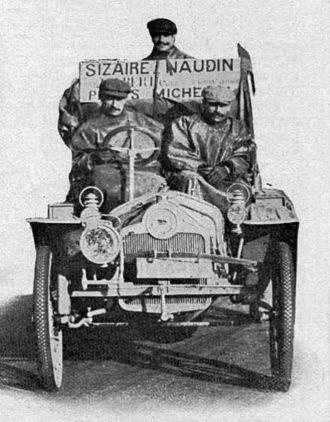 1908 New York to Paris Race - Sizaire-Naudin de Pons, Deschamps et Berlhe