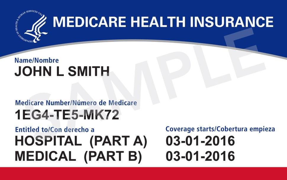 New US Medicare Card Sample 2018