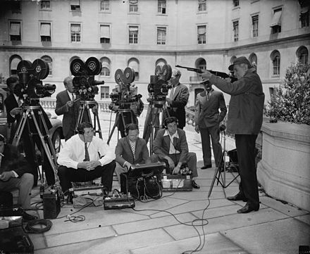 News cameramen, Washington DC, 1938 News cameramen LOC hec 24719.jpg
