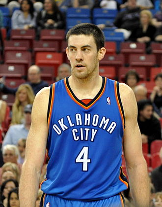 Nick Collison - Collison with the Thunder in March 2010
