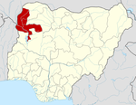 Map of Nigeria highlighting Kebbi State