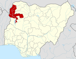Location of Kebbi State in Nigeria