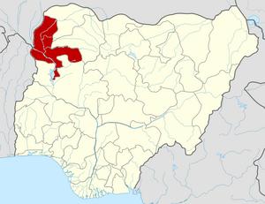 Kebbi State - Image: Nigeria Kebbi State map