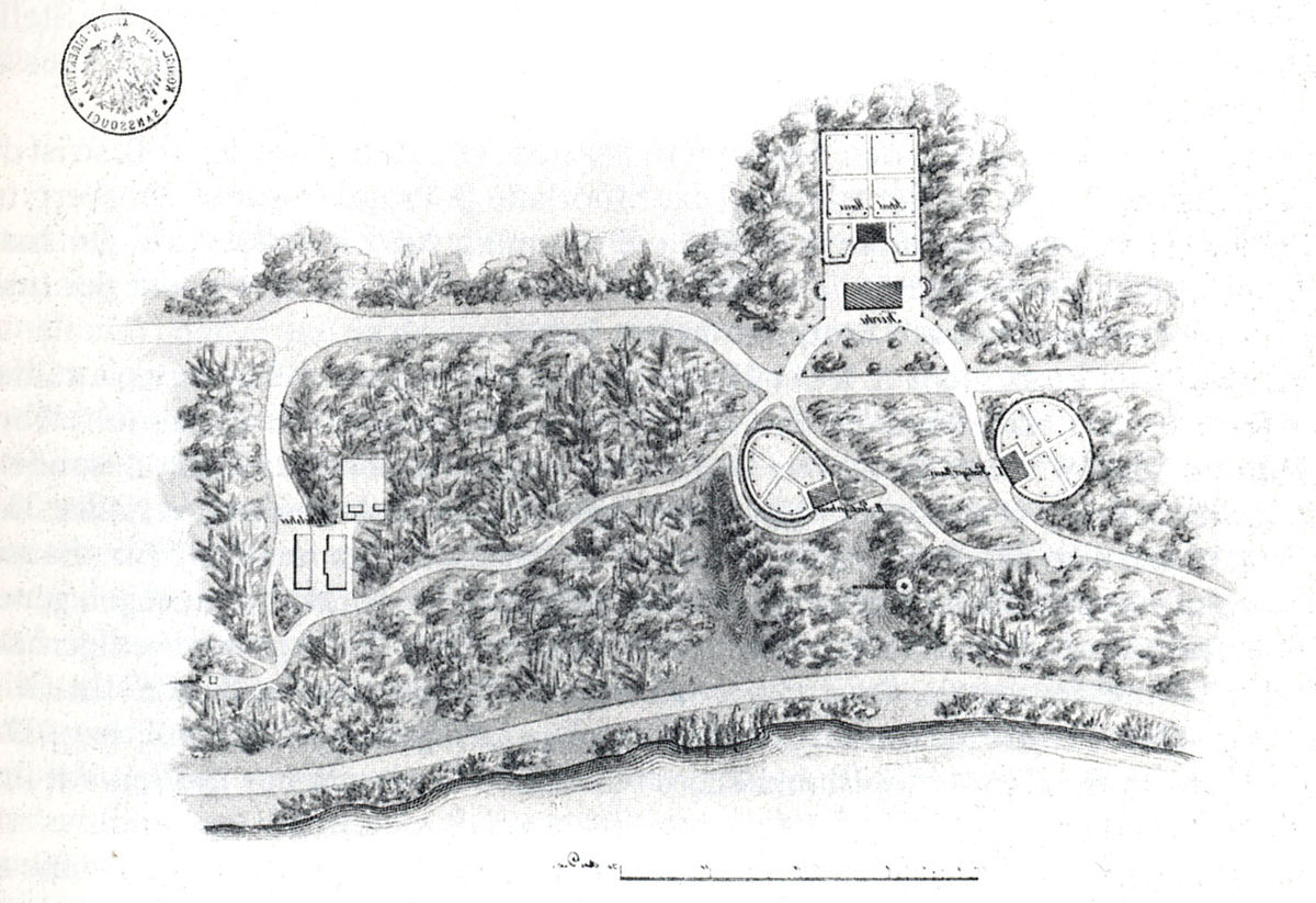 Nikolskoe Lenné erster Entwurf 1832-33.jpg