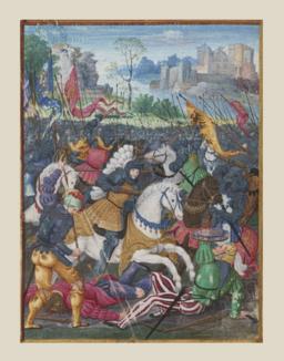 Noël Bellemare.- François Ier chargeant contre les Suisses à Marignan, 14-09-1515