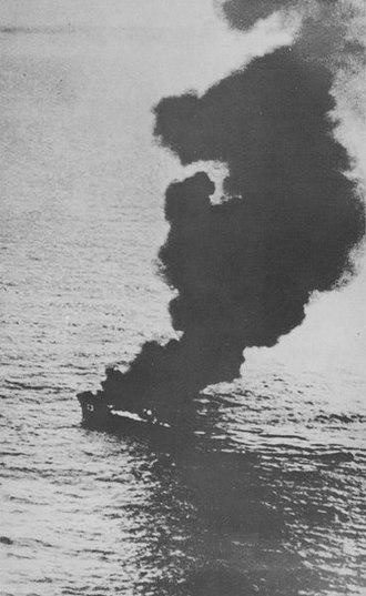 Doolittle Raid - No.23 Nittō Maru sinking by USS Nashville