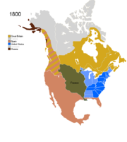 Map showing Non-Native Nations Claim_over NAFTA countries c. 1800