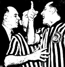 Norm Drucker ejecting Red Auerbach