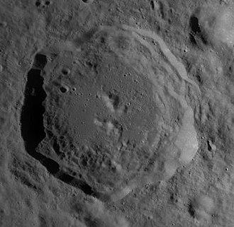 Cantor (crater) - LRO WAC mosaic