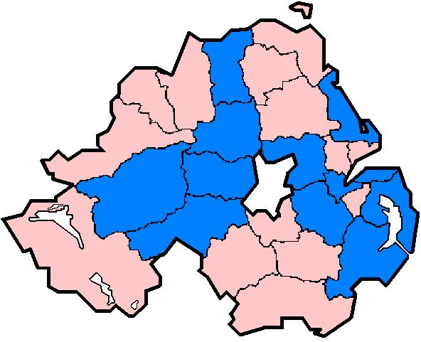 Northern Ireland districts flood damage 24 July 2007