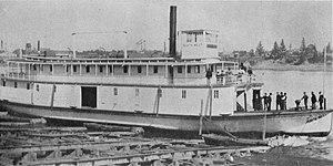 Northwest (sternwheeler) - Image: Northwest (sternwheeler) launching 1889