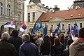 Novi Sad, Trg Slobode, protesty proti prodeji vodárny II.jpg