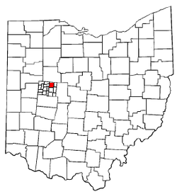 Location of Rushcreek Township in Ohio