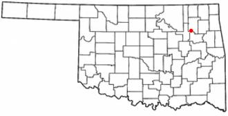 Catoosa, Oklahoma - Image: OK Map doton Catoosa