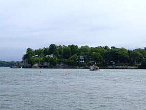 Gibraltar Island - View of the island from South Bass