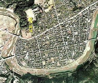 Nichinan, Miyazaki - Aeral Photo of Obi Castle and central Obi in Nichinan