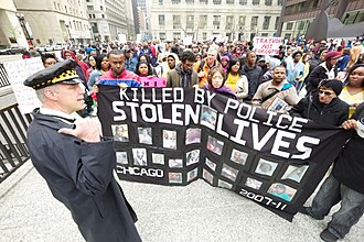 Police reform in the United States - Image: Occupy Chicago protestors (13)