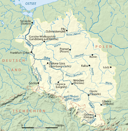 A map of the Oder River