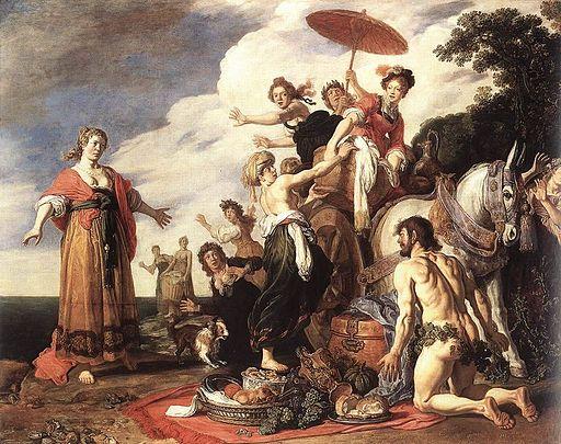 """Odysseus and Nausicaa"" by Pieter Lastman"