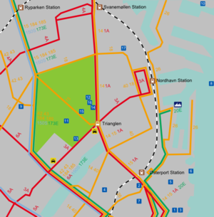 Copenhagensterbro travel guide at wikivoyage map of bus lines on sterbro publicscrutiny Images