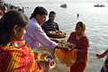 Offering to Sun God - Chhath Puja Ceremony - Ramkrishnapur Ghat - Howrah 2013-11-09 4097.JPG