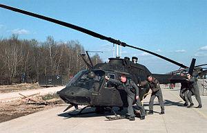 An OH-58 Kiowa.