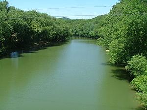 Ohio Brush Creek - Ohio Brush Creek near the Ohio River from US 52